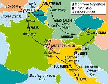 Backpacking Through Europe Tours
